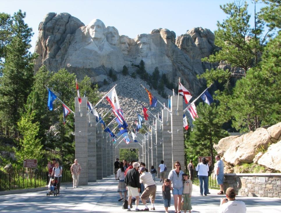 Sky Piercing Granite Spires on Needles Mountain in South Dakota