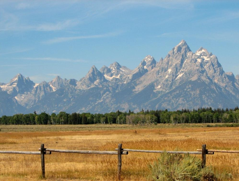Grand Teton NP on big horn mountains wyoming