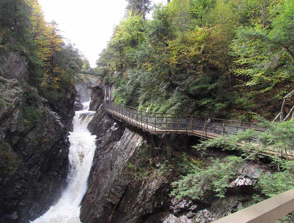 early autumn in adirondack park in upstate new york
