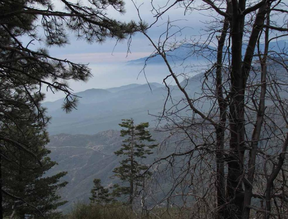 Mitsubishi Cement Plant : Rim of the world scenic byway at feet above los