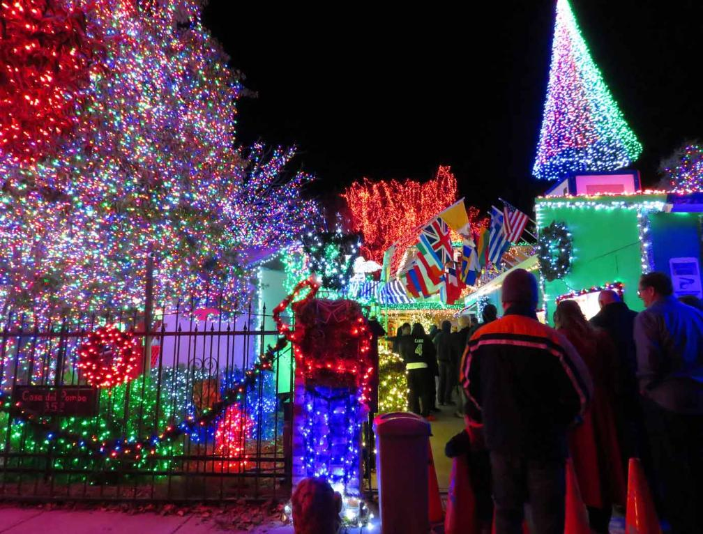 The first location that we visited is the world-famous display at Deacon  Dave Rezendes' Home located at 352. Hillcrest Drive, Livermore, CA 94550. - Fantastic Christmas Lights In San Francisco Bay Area
